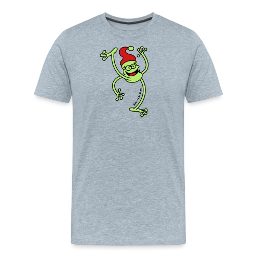 Merry Christmas Frog - Men's Premium T-Shirt