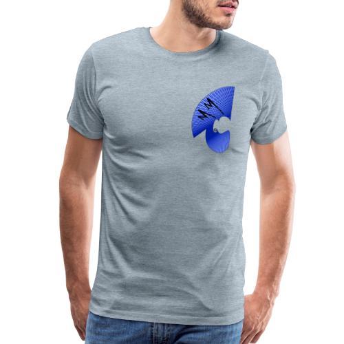 Matty Mohawk Logo & Skull - Men's Premium T-Shirt