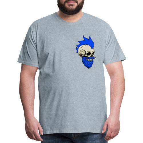Matty Mohawk Skull Front & Back - Men's Premium T-Shirt
