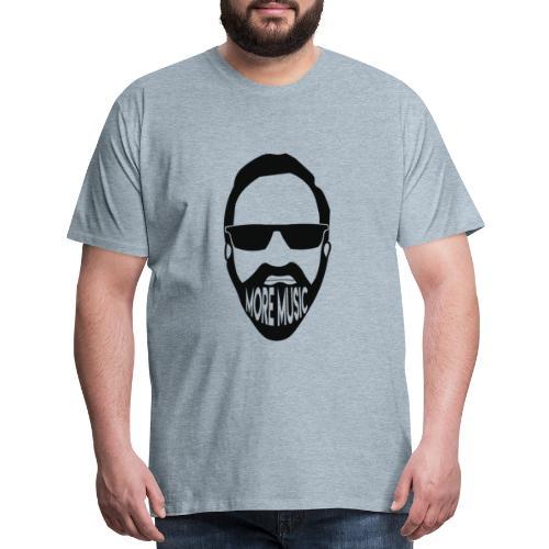 Joey D More Music front & back image color options - Men's Premium T-Shirt