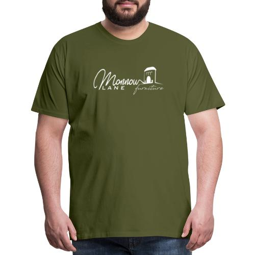 Monnow Lane Furniture Logo white - Men's Premium T-Shirt