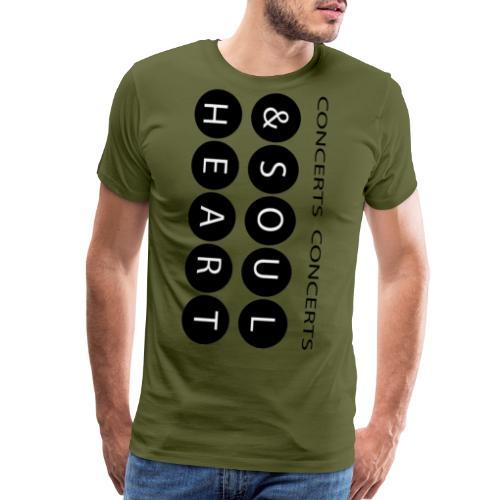 Heart & Soul concerts text design 2021 flip - Men's Premium T-Shirt