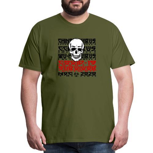 Corona Skull Survivor (NYC) - Men's Premium T-Shirt