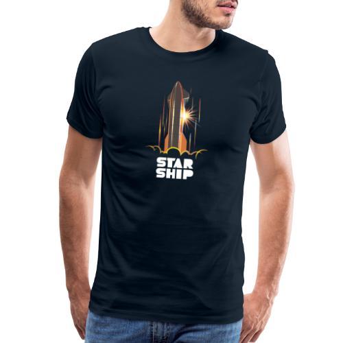 Star Ship Mars - Dark - Men's Premium T-Shirt