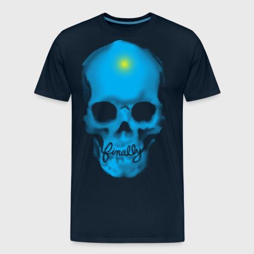 Finally Skull Cyan - Men's Premium T-Shirt