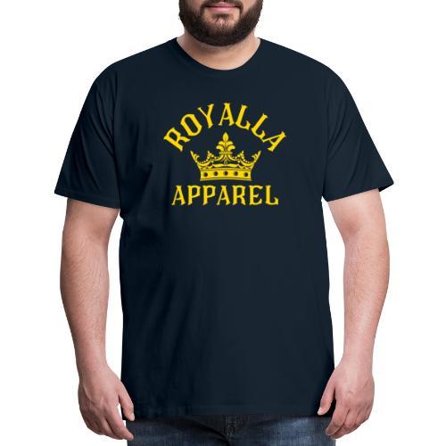 Royalla Apparel Gold Print - Men's Premium T-Shirt