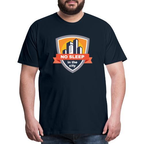 No sleep in the city   Colorful Badge Design - Men's Premium T-Shirt