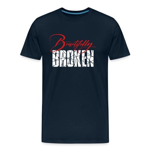 Beautifully Broken red white - Men's Premium T-Shirt