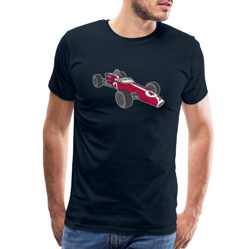 Red racing car, racecar, sportscar - Men's Premium T-Shirt