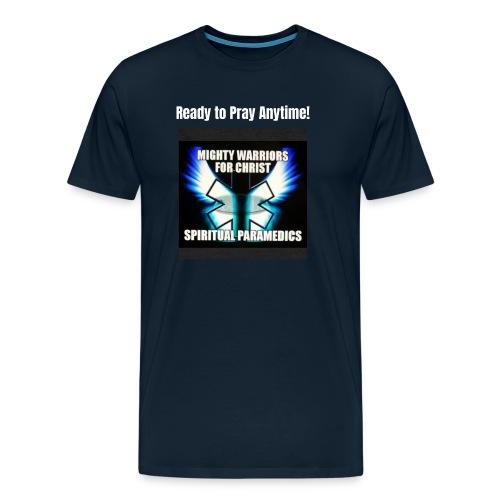 MightyWarrior PrayAnytime White - Men's Premium T-Shirt