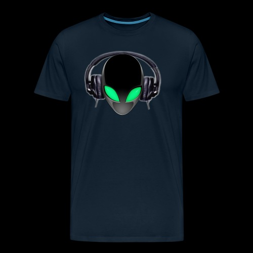 Alien Music Lover DJ (Simplified Fit All Design) - Men's Premium T-Shirt
