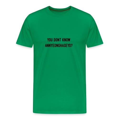 Annyeonghaseyo - Men's Premium T-Shirt