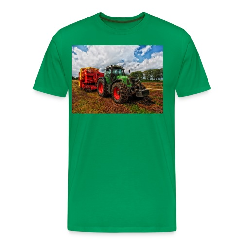 Tractor on a farm! - Men's Premium T-Shirt