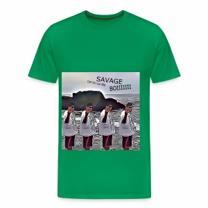 The Savage Boi Cam on the Beach - Men's Premium T-Shirt