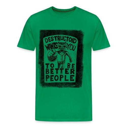 Destructoid Wants You - Men's Premium T-Shirt