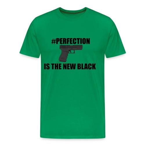 #Perfection Is The New Black - Men's Premium T-Shirt