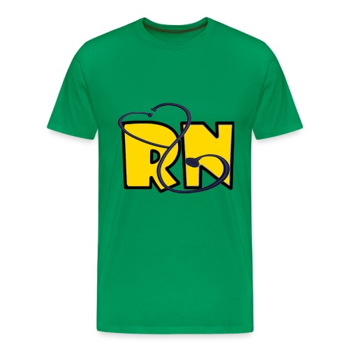 yellow RN W steth - Men's Premium T-Shirt