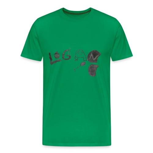 Hand Drawn Halloween Themed Logo - Men's Premium T-Shirt