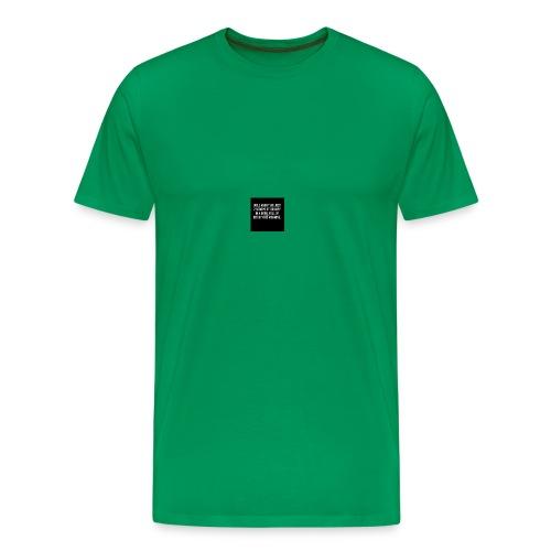 hate mornings wo - Men's Premium T-Shirt