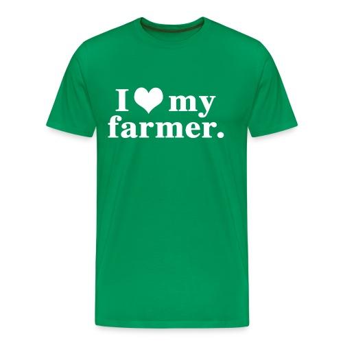 love my farmer - Men's Premium T-Shirt