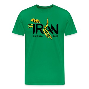 Pouncing Cheetah Iran supporters shirt - Men's Premium T-Shirt