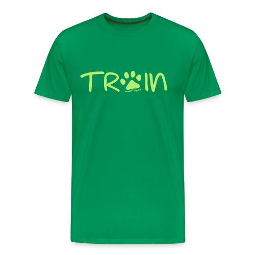 Rescue Dogs 101 Train Paw Print - Men's Premium T-Shirt