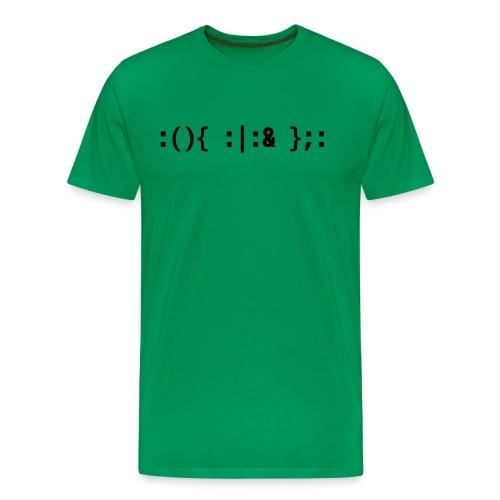 Bash Fork Bomb - Hacker Command Black Design - Men's Premium T-Shirt