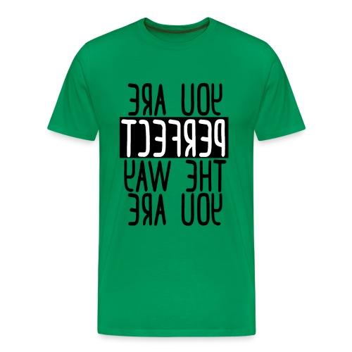 Mirror Messages PERFECT #selflove #bodypositivity - Men's Premium T-Shirt