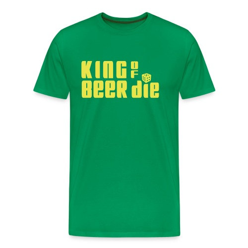 KING OF BEER DIE (Yellow) - Men's Premium T-Shirt