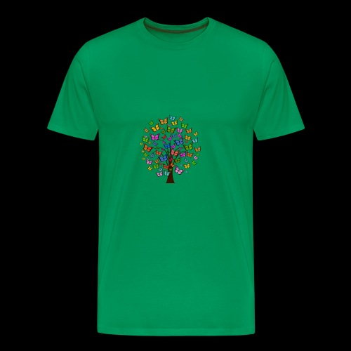 Cute colorful butterfly tree - Men's Premium T-Shirt