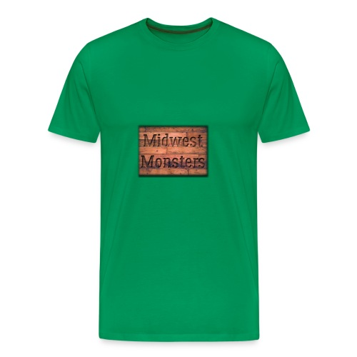 Midwest Monsters Wood Logo - Men's Premium T-Shirt
