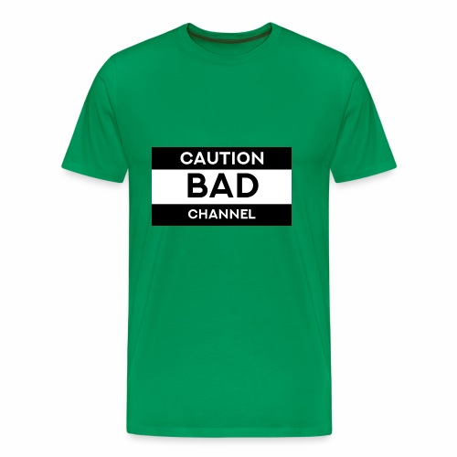 Caution Bad Channel - Men's Premium T-Shirt