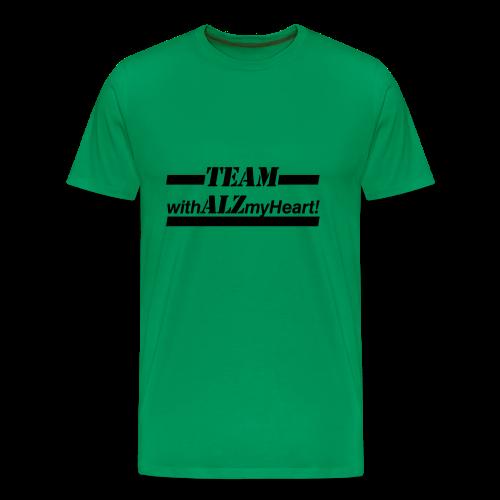 Team withALZmyHeart Logo Wear - Men's Premium T-Shirt