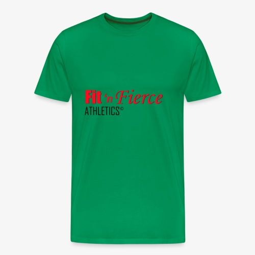 Fit 'n Fierce name only - Men's Premium T-Shirt