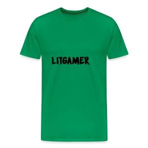 LITGAMER MERCH FIRE - Men's Premium T-Shirt