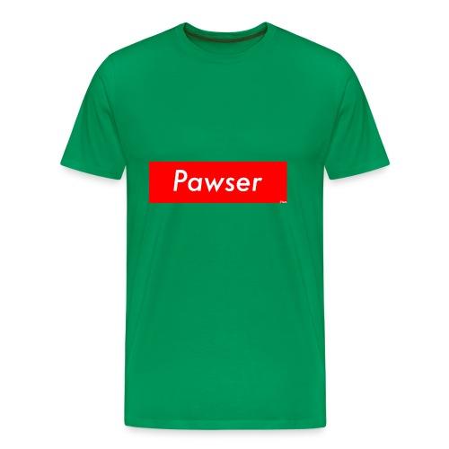 Pawser Logo SUPREME Style - Men's Premium T-Shirt