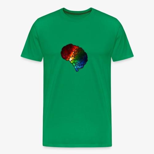 Neurodiversity Rainbow Brain - Men's Premium T-Shirt