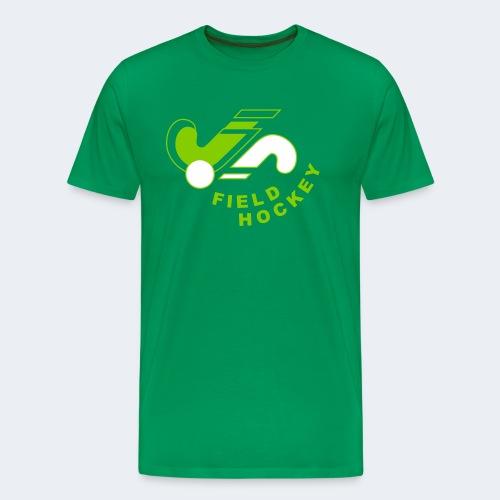Field Hockey Logo - Men's Premium T-Shirt
