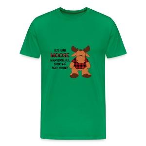 moose wonderful time of the year - Men's Premium T-Shirt
