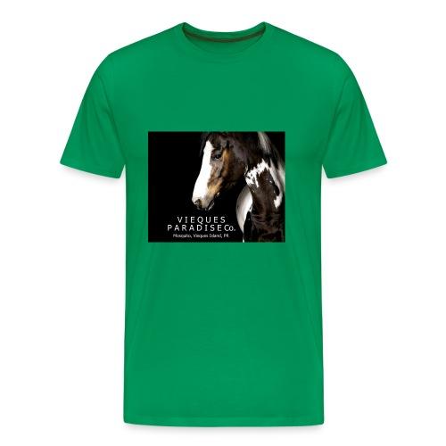 vieques island paradise horse poster - Men's Premium T-Shirt