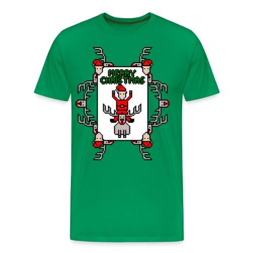 Merry Christmas Santa and Rudolph - Men's Premium T-Shirt