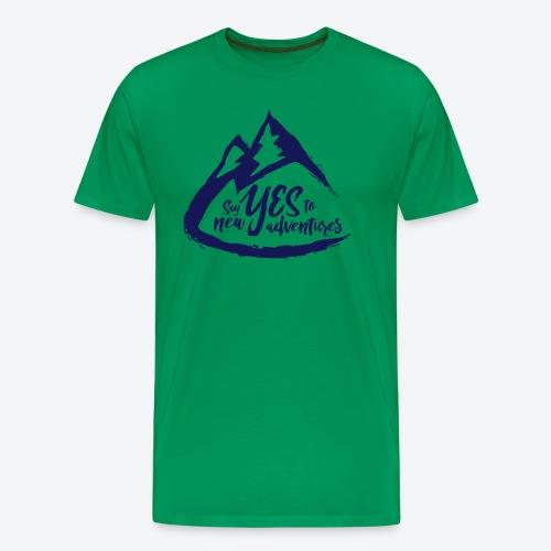 Say Yes to Adventure - Dark - Men's Premium T-Shirt