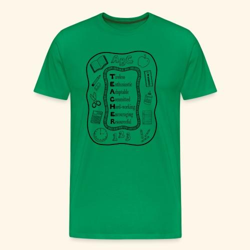 Teacher Attributes Acrostic - Men's Premium T-Shirt