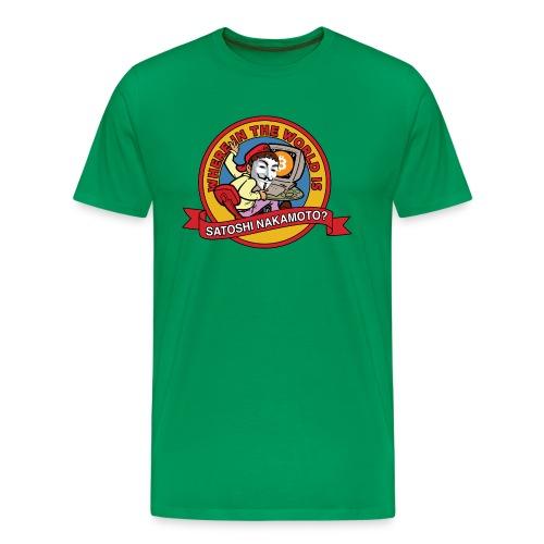 Where In The World Is Satoshi Nakamoto? - Men's Premium T-Shirt