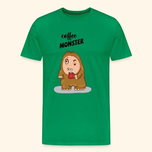 COFFEE MONSTER - Men's Premium T-Shirt