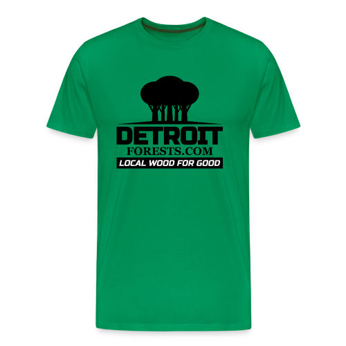 Great Lakes Forest | Detroit Forests Black Logo - Men's Premium T-Shirt