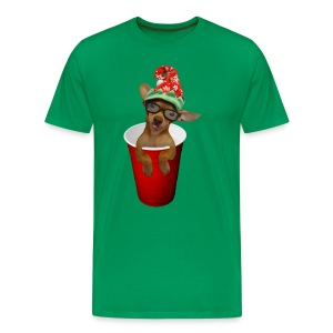 Pup in a cup Elf on the shelf who? lol - Men's Premium T-Shirt