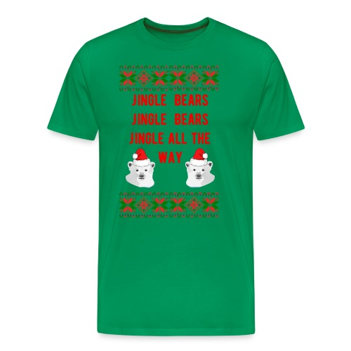 Jingle Bear (Red Text) - Men's Premium T-Shirt