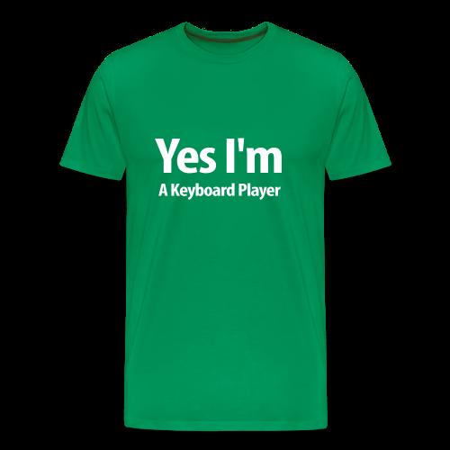 Yes I'm A Keyboard Player-white Design - Men's Premium T-Shirt