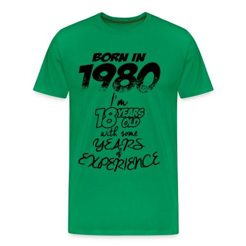 3 born in 1980 - Men's Premium T-Shirt